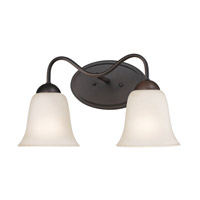 Cornerstone by Elk Conway 2 Light Bath in Oil Rubbed Bronze with White Glass 1252BB/10