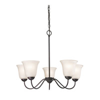 Cornerstone by Elk Conway 5 Light Chandelier in Oil Rubbed Bronze with White Glass 1255CH/10