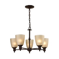Jackson 5 Light 22 inch Oil Rubbed Bronze Chandelier Ceiling Light in Light Amber, CFL