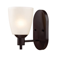 Cornerstone by Elk Jackson 1 Light Wall Sconce in Oil Rubbed Bronze with White Glass 1351WS/10