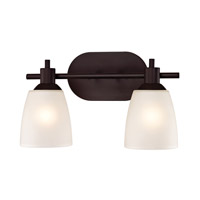 Cornerstone by Elk Jackson 2 Light Bath in Oil Rubbed Bronze with White Glass 1352BB/10