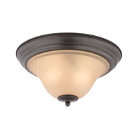 Cornerstone by Elk Kingston 2 Light Flush Mount in Oil Rubbed Bronze 1402FM/10