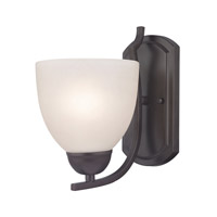 Cornerstone by Elk Kingston 1 Light Wall Sconce in Oil Rubbed Bronze with White Glass 1451WS/10