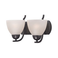 Cornerstone by Elk Kingston 2 Light Bath in Oil Rubbed Bronze with White Glass 1452BB/10