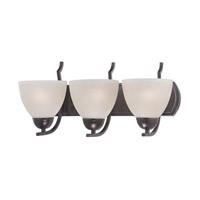 Cornerstone by Elk Kingston 3 Light Bath in Oil Rubbed Bronze with White Glass 1453BB/10