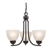 Cornerstone by Elk Kingston 3 Light Chandelier in Oil Rubbed Bronze with White Glass 1453CH/10