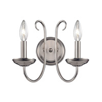 Cornerstone by Elk Williamsport 2 Light Wall Sconce in Brushed Nickel 1502WS/20