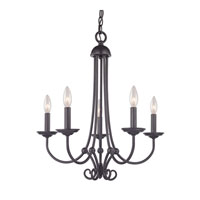 Cornerstone by Elk Williamsport 5 Light Chandelier in Oil Rubbed Bronze 1505CH/10