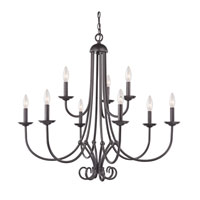 Cornerstone by Elk Williamsport 9 Light Chandelier in Oil Rubbed Bronze 1509CH/10