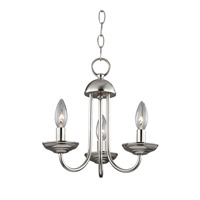 Cornerstone by Elk Williamsport 3 Light Mini Chandelier in Brushed Nickel 1523CH/20