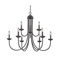 Cornerstone by Elk Williamsport 9 Light Chandelier in Oil Rubbed Bronze 1529CH/10
