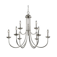 Cornerstone by Elk Williamsport 9 Light Chandelier in Brushed Nickel 1529CH/20
