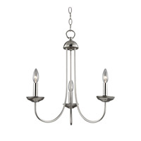 Williamsport 3 Light 20 inch Brushed Nickel Chandelier Ceiling Light