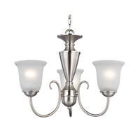 Cornerstone by Elk Greenville 3 Light Chandelier in Brushed Nickel 1603CH/20