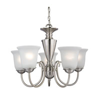 Cornerstone by Elk Greenville 5 Light Chandelier in Brushed Nickel 1605CH/20