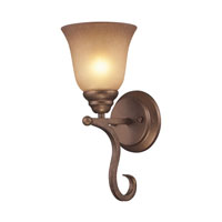 Cornerstone by Elk Lawrenceville 1 Light Wall Sconce in Mocha 1801WS/12