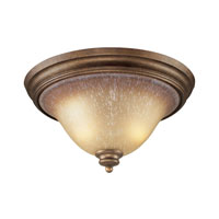 Cornerstone by Elk Lawrenceville 2 Light Flush Mount in Mocha 1802FM/12