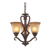 Cornerstone by Elk Lawrenceville 3 Light Chandelier in Mocha 1803CH/12