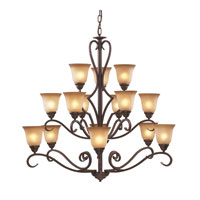 Cornerstone by Elk Lawrenceville 12 Light Chandelier in Mocha 1815CH/12