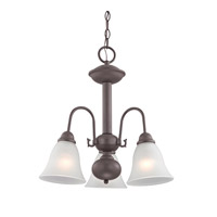 Cornerstone by Elk Bellingham 3 Light Chandelier in Oil Rubbed Bronze with White Glass 1903CH/10