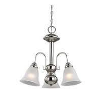 Cornerstone by Elk Bellingham 3 Light Chandelier in Brushed Nickel with White Glass 1903CH/20