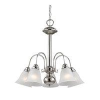 Cornerstone by Elk Bellingham 5 Light Chandelier in Brushed Nickel with White Glass 1905CH/20