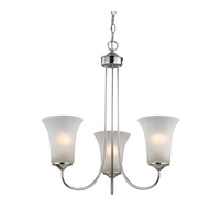 Cornerstone by Elk Charleston 3 Light Chandelier in Brushed Nickel with White Glass 1913CH/20