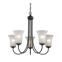 Cornerstone by Elk Charleston 5 Light Chandelier in Oil Rubbed Bronze with White Glass 1915CH/10