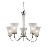 Cornerstone by Elk Charleston 5 Light Chandelier in Brushed Nickel with White Glass 1915CH/20