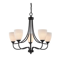 Cornerstone by Elk Arlington 5 Light Chandelier in Oil Rubbed Bronze with White Glass 2005CH/10