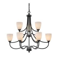 Cornerstone by Elk Arlington 9 Light Chandelier in Oil Rubbed Bronze with White Glass 2009CH/10