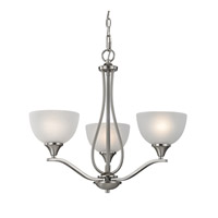 Cornerstone by Elk Bristol Lane 3 Light Chandelier in Brushed Nickel with White Glass 2103CH/20