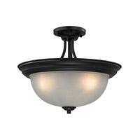 Bristol Lane 3 Light 16 inch Oil Rubbed Bronze Semi-Flush Ceiling Light