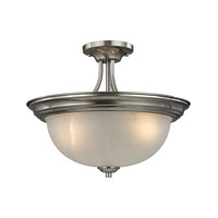 Bristol Lane 3 Light 16 inch Brushed Nickel Semi-Flush Ceiling Light