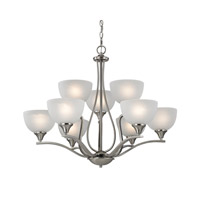 Cornerstone by Elk Bristol Lane 9 Light Chandelier in Brushed Nickel with White Glass 2109CH/20