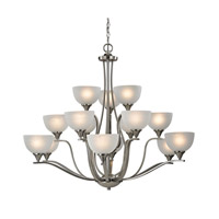 Cornerstone by Elk Bristol Lane 15 Light Chandelier in Brushed Nickel with White Glass 2115CH/20