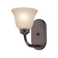 Cornerstone by Elk Santa Fe 1 Light Wall Sconce in Oil Rubbed Bronze with White Glass 2201WS/10