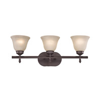 Cornerstone by Elk Santa Fe 3 Light Bath in Oil Rubbed Bronze with White Glass 2203BB/10