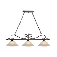 Cornerstone by Elk Santa Fe 3 Light Island Pendant in Oil Rubbed Bronze with White Glass 2203IS/10