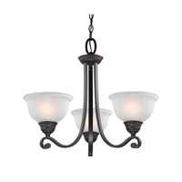 Cornerstone by Elk Hamilton 3 Light Chandelier in Oil Rubbed Bronze with White Glass 2303CH/10