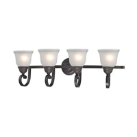 Hamilton 4 Light 33 inch Oil Rubbed Bronze Bath Wall Light