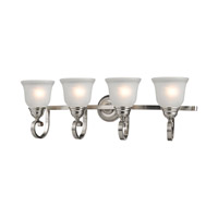 Hamilton 4 Light 33 inch Brushed Nickel Bath Wall Light