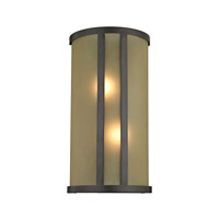 Cornerstone by Elk Signature 2 Light Wall Sconce in Oil Rubbed Bronze with Light amber Glass 5102WS/10