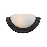 Cornerstone by Elk Signature 1 Light Wall Sconce in Oil Rubbed Bronze with White Glass 5151WS/10