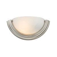 Cornerstone by Elk Signature 1 Light Wall Sconce in Brushed Nickel with White Glass 5151WS/20