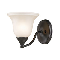 Cornerstone by Elk Shelburne 1 Light Wall Sconce in Oil Rubbed Bronze with White Glass 5551BB/10