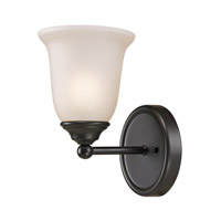 Cornerstone by Elk Sudbury 1 Light Wall Sconce in Oil Rubbed Bronze with White Glass 5651BB/10