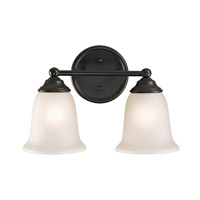 Cornerstone by Elk Sudbury 2 Light Bath in Oil Rubbed Bronze with White Glass 5652BB/10