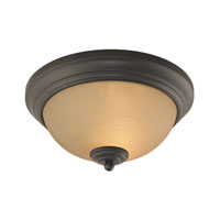 Cornerstone by Elk Huntington 2 Light Flush Mount in Oil Rubbed Bronze 7002FM/10