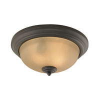 Cornerstone by Elk Huntington 3 Light Flush Mount in Oil Rubbed Bronze 7003FM/10